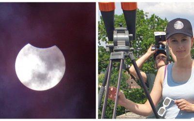 """Uczniowie """"Mechanika"""" obserwowali częściowe zaćmienie Słońca. Zrobili to jak zawodowcy"""