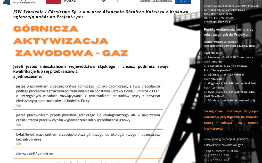 Ruszył projekt Górnicza Aktywizacja Zawodowa GAZ